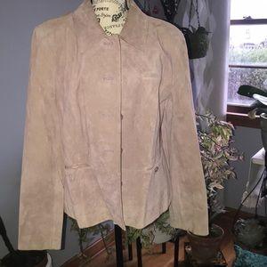 Ann Taylor 100% leather blazer